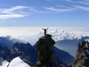 The view from 4061 m at the foot of Gran Paradiso.